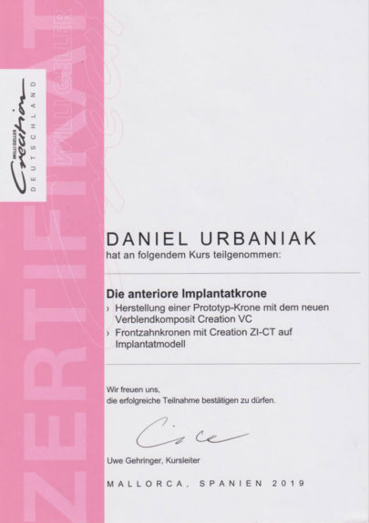 Zertifikat-Urbaniak